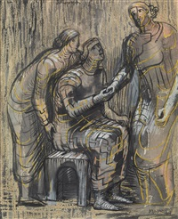 three female figures by henry moore