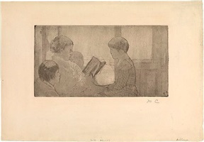 mrs. cassatt reading to her grandchildren (no. 1) by mary cassatt