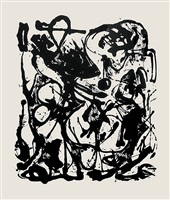 untitled (after cr#333) by jackson pollock