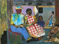 mecklenburg evening by romare bearden