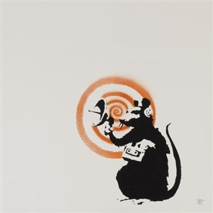 radar rat by banksy