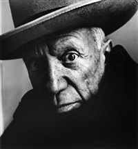 picasso (b), cannes, 1957 by irving penn