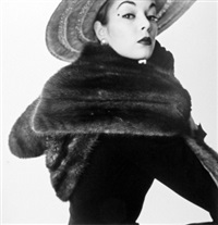 dior fur scarf (jean patchett), new york, 1950-51 by irving penn