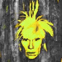 self portrait: warhol vs warhol (yellow) by alex guofeng cao