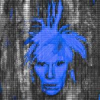 self portrait: warhol vs. warhol (blue) by alex guofeng cao