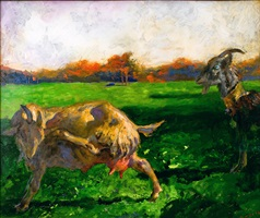 the blue-­-eyed goat by jamie wyeth