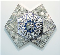 untitled (blue) by monir shahroudy farmanfarmaian