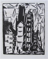 houses in paris by lyonel feininger
