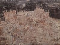 paysage aux châteaux de rochers by jean dubuffet