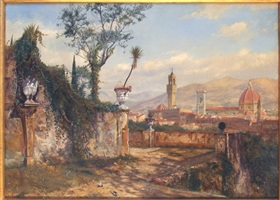 view of florence by henry roderick newman