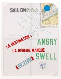 vogue la galére (angry swell) by lawrence weiner