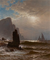sailing off grand manan by alfred thompson bricher