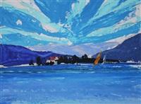 island sail, lake zurich by donald hamilton fraser