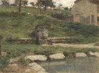 la fontaine / the fountain by léon augustin lhermitte
