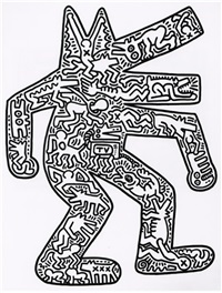 dog by keith haring