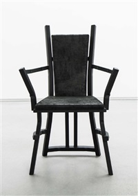 reverchaise armchair (black) by vincent dubourg