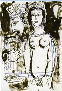 david with harper by marc chagall