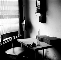 vivian maier - winnetka, il (interior with telephone) by vivian maier