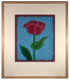 tulipe(2) by yayoi kusama