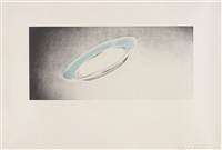 plate, from domestic tranquility series by ed ruscha