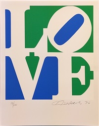 love (blue white green) by robert indiana