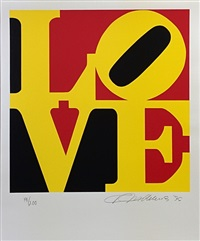 love (black yellow red) by robert indiana