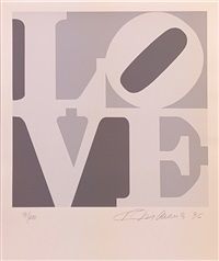 love (gray white) by robert indiana