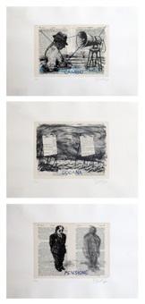 beadeker suite (of 3 images) by william kentridge