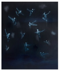 bird, brain, black by ross bleckner