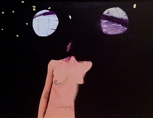 mystery woman on porch by fritz scholder