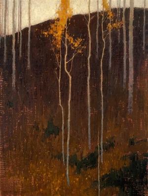 twisting autumn saplings by david grossmann