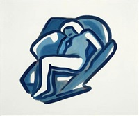 study for blue nude by tom wesselmann