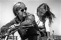 robert redford and lauren hutton, sonoma, california by steve schapiro