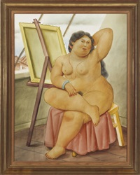the model by fernando botero