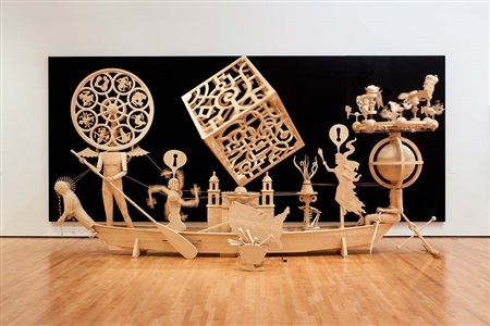 john buck kinetic sculptures, prints, and carved wood panels by john buck