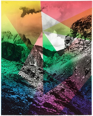 composition with mountain (edition for parkett 94) by shirana shahbazi