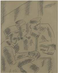 trois soldats au repos dans un baraquement by fernand léger