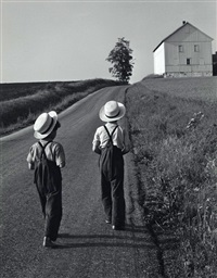 two amish boys, lancaster, pa by george tice