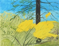 forsythia, april by lois dodd