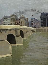 le pont neuf by félix edouard vallotton