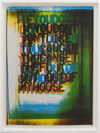 my house #3 by christopher wool