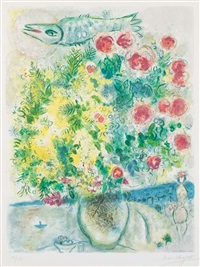 roses et mimosa (roses and mimosa) from nice & the côte d'azur by marc chagall