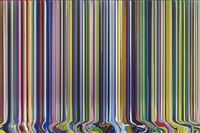 colourcade: magenta/purple/green by ian davenport