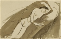 reclining nude 2 (verso) by amedeo modigliani