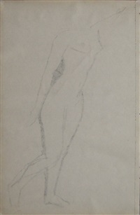 standing nude (verso) by amedeo modigliani