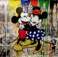 mickey & minnie by mr. brainwash
