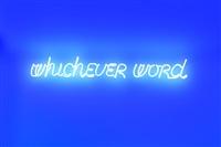 whichever word by maurizio nannucci