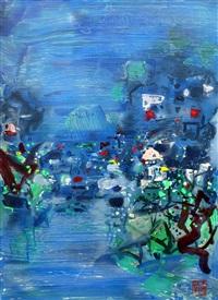 stormy ink - 5 - spring rain by chu teh-chun