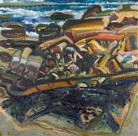 rocky shore by bernard chaet