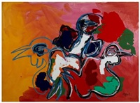 three birds by karel appel